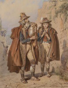 Carl_Goebel_Dudelsackpfeifer_und_Flötenspieler_1864