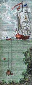 Unbekannter Künstler: Die Taucherglocke von Charles Spalding (1738–1783), um 1815, Kupferstich, Privatsammlung, Foto: Leo Konopizky, München